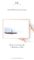 Morning Haze - French Riviera art print by Cattie Coyle Photography 2
